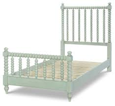 Legacy Kids Grace Gray Low Post Spindle Bed With Twin Trundle