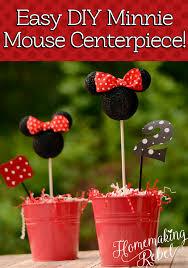 diy minnie mouse party decor minnie mouse centerpiece