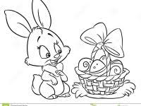 Happy Easter Bunny Coloring Pages Cartoon Illustration Stock Cool