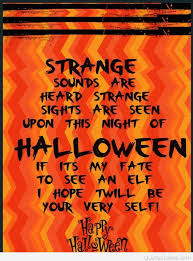strange sounds on halloween quote with card
