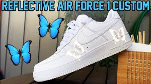 Light Up Air Force Ones For Sale Nike Air Force 1 Butterfly Effect Tutorial 3m Reflective