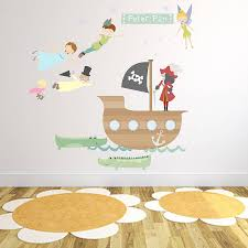 peter pan fabric wall stickers