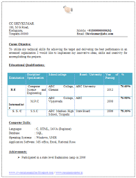 Resume Templates Spaceresumecv com        A resume format