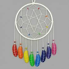 Dream Catcher Without Feathers White dreamcatcher with rainbow feathers Savousépate 20