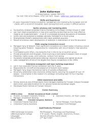 Remarkable Wide Ranging Transaction Record Finance Manager Resume