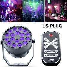 Black Light With Remote 8x 18 Led Uv Black Light Dmx Par Can Stage Lighting Disco