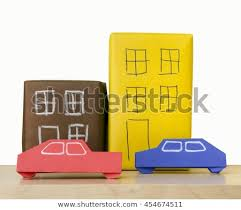 Foldable Paper Car Car House Made Paper Folded Japanese Stock Photo Edit Now