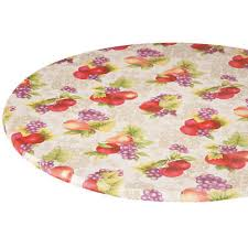 fruit fl round elasticized tablecloth table cover vinyl fitted summer decor