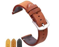 Genuine Leather Watchbands Vintage Style <b>18mm 20mm</b> 22mm ...