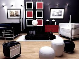 ... Black And White Home Decor Handsome Red Living Room Idea Walls Perfect  Ideasure Has Set Sets ...