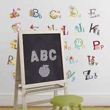 Big Graphic Alphabet Letters Kids Room/Nursery Wall Decal Stickers - -  Amazon.com