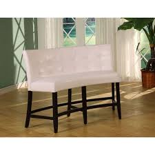 counter height banquette. Delighful Banquette Button Tufted Counter Height Banquette In White Leatherette In I