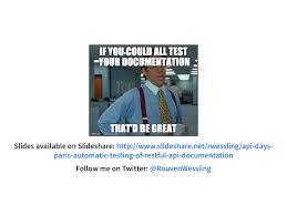 slideshare api automatic testing of restful api documentation