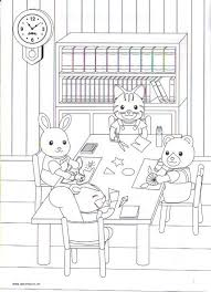 Calico Critters Coloring Page School Work Calico Critters