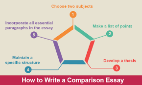 comparison essay outline how to write example english  how to write a comparison essay