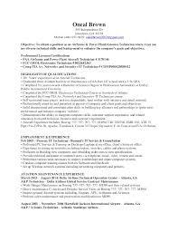 Power Plant Mechanic Sample Resume Best Mechanic Resume Template Fancy Aviation Electronics Technician