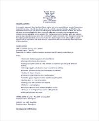 Resume Format For Dance Teacher Dancer Resume Template 6 Free Word Pdf Documents