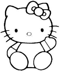 Hallo Kitty Kleurplaat Gratis Kleurplaten Printen