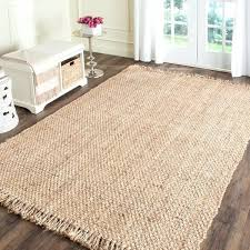 casual natural fiber hand woven jute rug 6x9 area