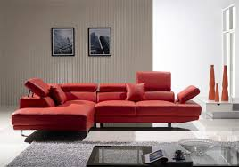 Modern Red Leather Sectional red leather furniture awesome red