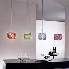 small square multi coloured swarovski crystal pendant light
