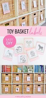 pretty in pink diy toy basket labels