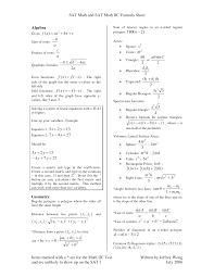 formula chart