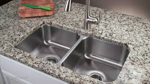 Granite Undermount Kitchen Sinks How To Install A Stainless Steel Undermount Kitchen Sink Moen