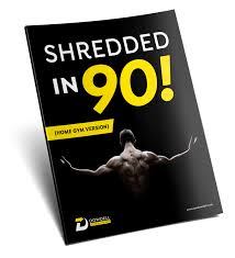 shredded in 90 program for men home gym version