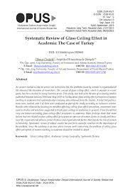 gl ceiling effect in academia