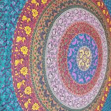 multi coloured queen hippie mandala wall tapestry beach sheet