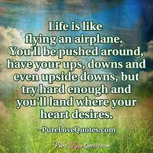 Airplane Quotes Gorgeous Life Is Like Flying An Airplane You'll Be Pushed Around Have Your