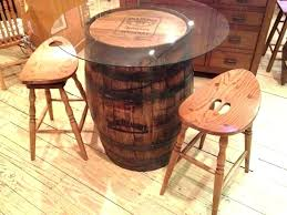 whiskey barrel end table jack whiskey barrel table and chairs furniture single end bar view in whiskey barrel end table