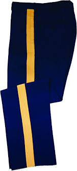Us Army Mens Asu C Dress Blues Service Uniform Braided Trousers Pants Slacks