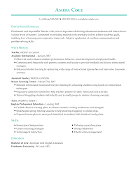 As with most professions, those who are enthusiastic about their job tend to perform to higher standards. Professional Teacher Resume Examples Teaching Livecareer