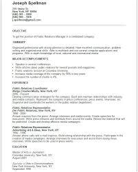 Public Relations Resume Entry Level Marketing Resume Examples Pr Resume Public Relations