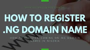 How To Buy A Domain How To Register Your Ng And Com Ng Domain Name Naijaknowhow