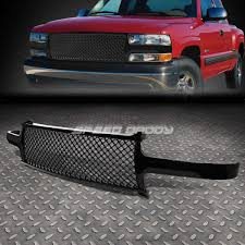 Tahoe 2004 chevy tahoe front bumper : FOR 99-06 CHEVY SILVERADO/TAHOE FRONT UPPER BUMPER GLOSS ABS MESH ...