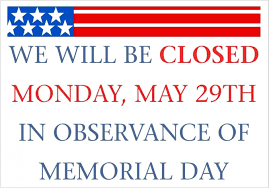 Closed For Christmas Sign Template Office 24 Memorial Day