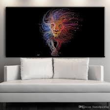Großhandel Moderne Abstrakte Leinwand Kunst Abstrakte Löwe Tier