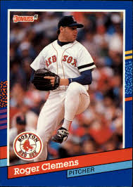Donruss just didn't have photos of them with their new teams. 1991 Donruss 81 Roger Clemens Nm Mt