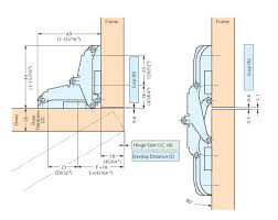concealed hinges detail. schematic spec sheet concealed hinges detail c