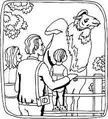 Small Picture Giraffe Zoo Coloring Page Wecoloringpage