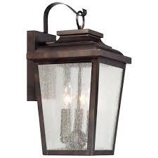 outdoor lantern lighting. irvington manor threelight outdoor wall mount in chelesa bronze lantern lighting