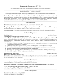 Cover Letter Radiologic Technologist Resume Examples Free