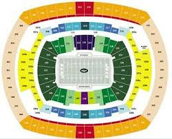 Two Ny Jets Psl Seats Metlife Stadium Section 123 Row 44