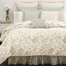 bedroom fl beige ralph lauren bedding with white paint wall