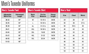 Uniform Advantage Size Chart Size Charts