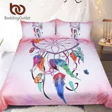 Dream Catcher Crib Set BeddingOutlet Heart Dreamcatcher Bedding Set Pink and Sky Blue 17