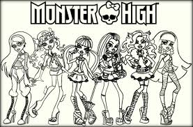 Monster High Coloring Pages Color Zini